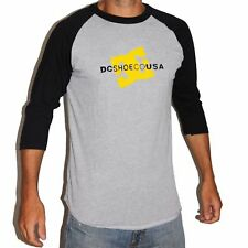 NEW Tee-shirt manches longues DC SHOES USA  Liner Concert Heather grey black Old