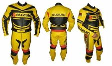 Suzuki Yellow New Motorbike Racing Leather Suit Racing Motorcycle Cowhide Suit