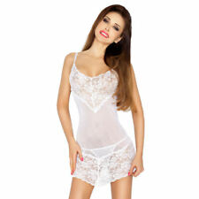 Passion Miley Chemise - Pure white, sexy, lingerie, nightdress