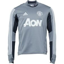 adidas Official Manchester United FC Training Top Men's- Grey/White