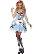 Adult Sexy Fever Fairytail Miss Wonderland Ladies Alice Fancy Dress Costume