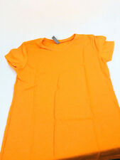 Clementine Apparel Little Girls SZ-XL Everyday V Neck Tee Orange