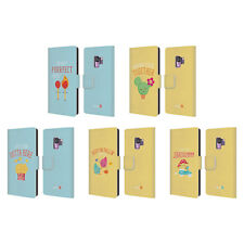 OFFICIAL MUY POP SUNNY SIDE UP MIX LEATHER BOOK WALLET CASE FOR SAMSUNG PHONES 1