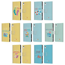 OFFICIAL MUY POP SUNNY SIDE UP SUMMER LEATHER BOOK WALLET CASE FOR SONY PHONES 1