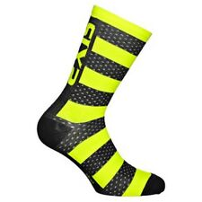 Sixs Short Socks Merinos Yellow/carbon Yellow Fluo / Carbon , Calze Sixs