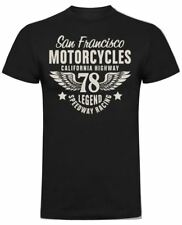 Sanfrancisco Motorcycles 78 Biker T-Shirt (Black)