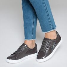 Mademoiselle R Womens Trainers With Diamante Detail