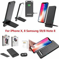 For iPhone X, 8 Samsung S9/8 Note 8 Wireless Qi Charger Charging Pad Stand Dock