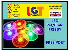 Flying LED Light Up Frisbee Outdoor Multi Color Toys Pet Children Fun Frisby 3D