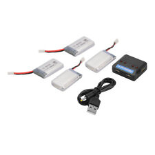 4x 3.7V 600mAh/850mAh Battery + Charger for Syma X5C X5SW RC Drone Quadcopter