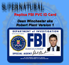 Supernatural Sam or Dean Winchester Replica FBI ID Card or Custom PVC ID Card