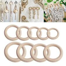 20pcs 3-7cm Unfinished Natural Wooden Round Rings DIY Necklace Jewellery Craft