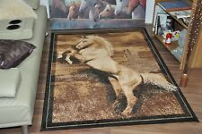 New Extra Large Modern Soft Horse Animal Print Area Rugs Carpet Mat Cheap Rug