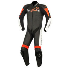 Alpinestars Challenger V2 Black / White / Fluo Red One Piece Suit | All Sizes