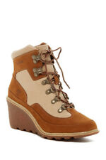 NEW NIB Timberland Amston Hiker TB08463B womens ankle boots wedge bootie wheat
