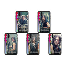 AMC THE WALKING DEAD DARYL DIXON BLACK HYBRID GLASS BACK CASE FOR iPHONE PHONES
