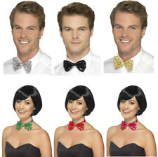 Sequin Bow Tie Sequinned Dickie Bow All Colours
