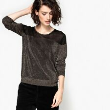 La Redoute Collections Womens Twotone Metallic Jumpersweaterbr