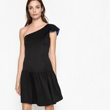 Mademoiselle R Womens One Shoulder Dress With Ruffle Detail