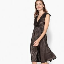 La Redoute Collections Womens Shiny Dress With Pleats  Ruffles Br