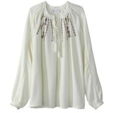 La Redoute Collections Womens Loose Folk Style Blouse Br