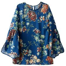 La Redoute Collections Womens Flared Sleeve Floral Blouse