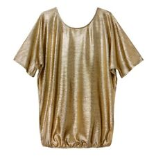 La Redoute Collections Womens Metallic Gold Blouse With 34 Sleevesbr