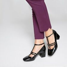Mademoiselle R Womens Patent Ballet Pumps With Beaded Detail