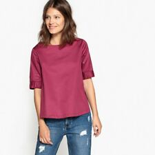 La Redoute Collections Womens Cotton Blouse With Elasticated Sleeves