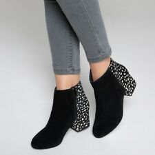 Mademoiselle R Womens Leather Ankle Boots With Polka Dot Detail