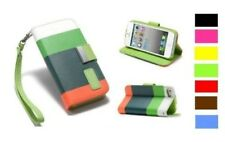 Funda de Cuero de Pu Protectora para Apple Iphone 5 Cartera Correa Regalo