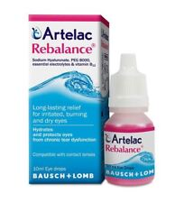 Artelac Rebalance Relief Tear Dysfunction Dry Eye Clear Vision 10ml Drops