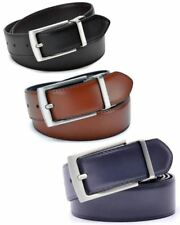 Revolvable Buckle For Men Formal Business Genuine Leather Belt With Double Side