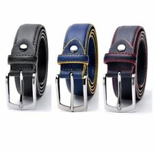 Fashion High Quality For Man Belt Split Leather Design Casual Jeans