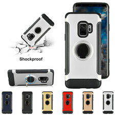 For Samsung Galaxy S8 S9+ N8 Hybrid Magnetic Ring Stand Carbon Fiber Case Cover