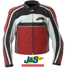 Alpinestars Dyno 2 Ladies Leather Motorcycle Jacket Womens Red White Black J&S