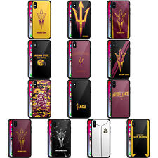 OFFICIAL ARIZONA STATE UNIVERSITY ASU BLACK HYBRID GLASS CASE FOR iPHONE PHONES