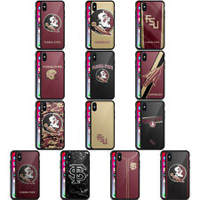 OFFICIAL FLORIDA STATE UNIVERSITY FSU BLACK HYBRID GLASS CASE FOR iPHONE PHONES