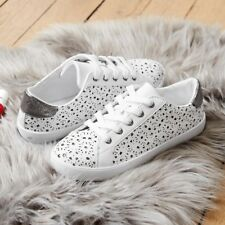 Mademoiselle R Womens Laceup Low Top Trainers With Lace Detail