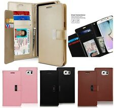 Samsung Galaxy S6 Edge - Multi Card Leather Card ID Wallet Flip Pouch Case Cover