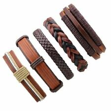 Casual Leather Bracelets Charm Multi-layer Braid Wrap Chain Rope Men Jewelry