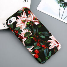 IPHONE X 6 7 8 PLUS  Slim FLOWER Case & Screen Protector 9H APPLE IPHONE X COVER