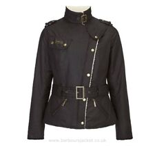 BARBOUR International Womens Matlock Black Quilted Biker Jacket