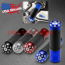 "Motorcycle Hand Grips Rubber 7/8"" Handle Bar For Honda Suzuki Kawasaki Yamaha 03"