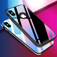 Hard for Apple iPhone X 8 7 6 6S Plus Mirror Back Tempered Glass Cover Skin Case