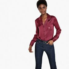 La Redoute Collections Womens Straight Satin Shirt Br