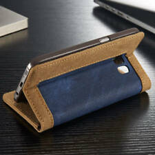 For Samsung Galaxy S6 S8 S9 S7 Jean Leather Flip Wallet Magnetic Case Cover