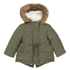 La Redoute Collections Girl Star Print Hooded Parka, 3 Months3 Years