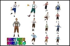 Mens Bavarian Oktoberfest Beer Festival Fancy Dress Stag Do Fun Lederhosen Shirt