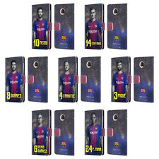 OFFICIAL FC BARCELONA 2017/18 FIRST TEAM 1 LEATHER BOOK CASE FOR MOTOROLA PHONES